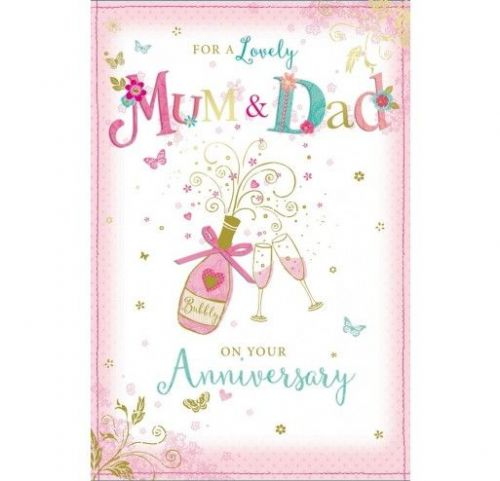 For A Lovely Mum & Dad On Your Anniversary 75WA328